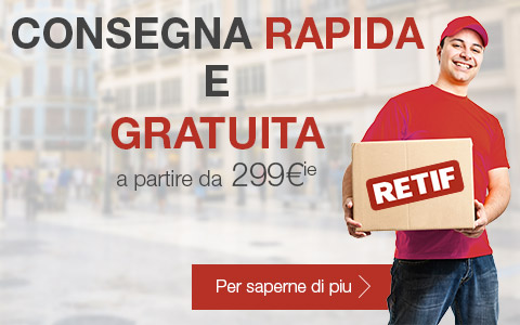 Consegna gratuita per ordini superiori a 300 €