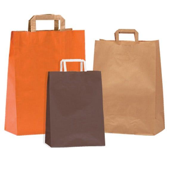 Shopper kraft maniglie piatte