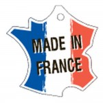 Etichetta Made in France per filo Dim. 40x40mm pack da 50