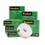 Nastro adesivo scotch magic invisibile 33 m x 19 mm  - Pack da  6