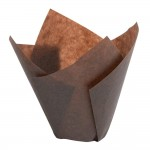 Pirottino muffin Tulipcup marrone 5x9,5cm - Pack da 200