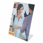 Porta cartellini A5 inclinato Pet - Pack da 5