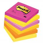 Post-it a cubo colori assortitit tutti frutti - 76 x 76 mm - Pack da 6