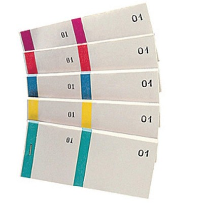 Blocchi numerati Dim: 135 x 66 mm - Pack da 10 - colori assortiti-Blocchetti, ticket e comande HORECA