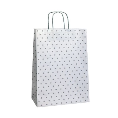 "Busta shopper  ""Charme"" maniglie ritorte  26 x 11 x 24cm-Shopper in carta kraft"