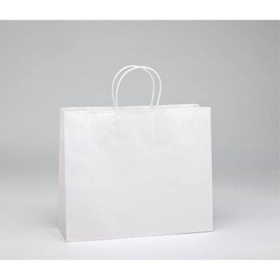 Busta shopper maniglie ritorte bianca 54 x 16 x 43 cm - Pack da 25-Shopper in carta kraft