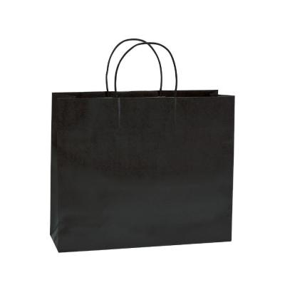 Busta shopper maniglie ritorte Fold nero 54 x 16 x 43 cm - Pack da 25-Shopper in carta kraft