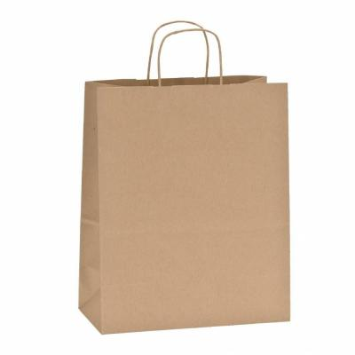 Buste shopper 100 % riciclata lungh. 32 x prof.16 x alt. 39 cm - x 50-Shopper in carta kraft