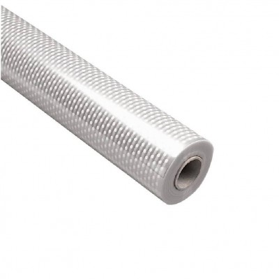 Cellophane fioristata plumetis bianco 80 cm x 120 m-Carta regalo metallizzata e cellophane