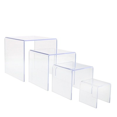 Set 4 espositore trasparente-Espositori in plexiglass