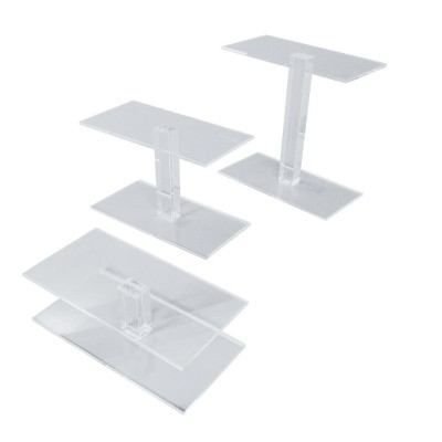 Set di 3 espositore trasparente plexiglass-Espositori in plexiglass